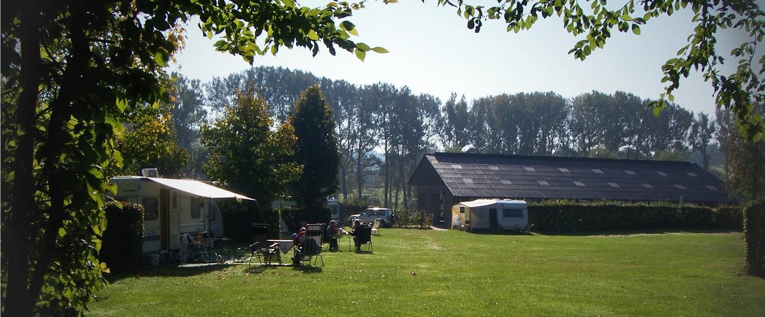 camping zicht caravan stal